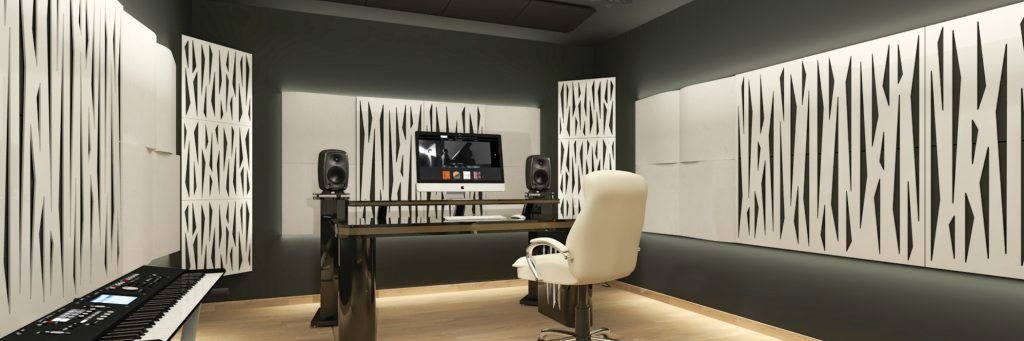 an acoustically optimised studio